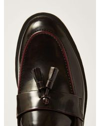 Topman - Red Burgundy Patent Preston Penny Loafer for Men - Lyst