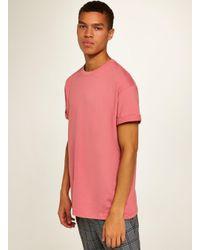 2e41b7ff TOPMAN Pink Oversized Roller T-shirt in Pink for Men - Lyst