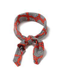 Topman Red Black Stripe Bandana for men