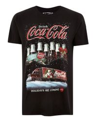 Topman London Co Black Christmas T-shirt for men