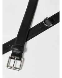 Topman - Black Smart Leather Belt With Silver for Men - Lyst