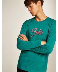 Topman - Blue Teal 'broke' T-shirt for Men - Lyst