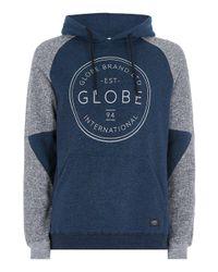 Globe Blue 'winson' Hoodie for men