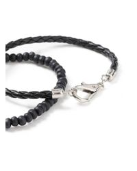 Topman - Black Bracelet 2 Pack for Men - Lyst