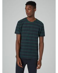 Topman Hymn Black Striped T-shirt for men