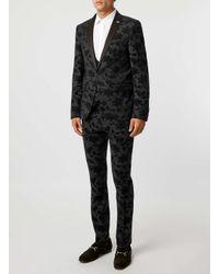 Noose And Monkey - Gray Grey Tuxedo Waistcoat for Men - Lyst