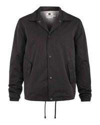 TOPMAN Black Lightwieght Coach Jacket for men