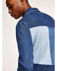 Topman - Blue Tommy Jeans Denim Trucker Jacket for Men - Lyst