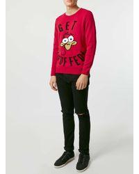 Topman | The London Knitwear Company Red Jumper* for Men | Lyst