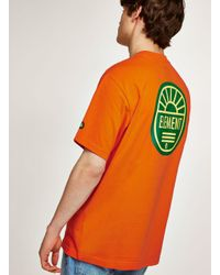 Topman Element Orange 'yawye' T-shirt for men