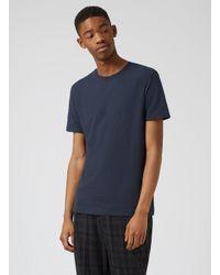 Topman - Green Navy Bubble Textured Slim Fit T-shirt for Men - Lyst