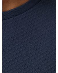 Topman - Green Navy Bubble Textured Slim Fit T-shirt for Men - Lyst