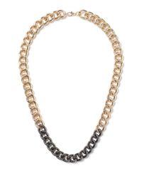 Topman - Metallic Gold Look Dip Effect Chain Necklace* for Men - Lyst