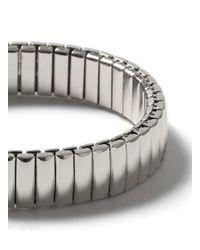 Topman - Metallic Silver Look Stainless Steel Stretch Bracelet* for Men - Lyst