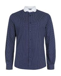 TOPMAN | Long Sleeve Blue Mini Rose for Men | Lyst