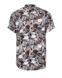 Topman | Red Selected Homme Floral Abstract Print Stretch Fit Shirt for Men | Lyst