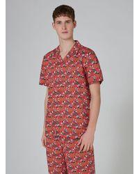 Topman Red 'see Me Rollin' Sushi Pyjama for men