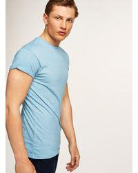 Topman Light Blue Skinny Fit Salt And Pepper T-shirt for men