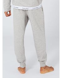 Calvin Klein - Gray Grey Marl Joggers for Men - Lyst