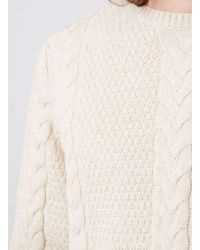 Topman | Blue Stone Rope Cable Textured Sweater for Men | Lyst