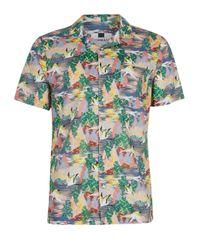 Topman | Multicolor Heron Print Short Sleeve Casual Shirt for Men | Lyst