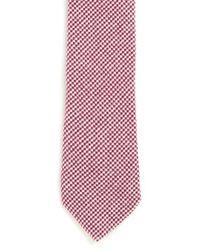 TOPMAN   Pink Red Mini Geometric Print Tie for Men   Lyst