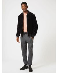 Topman - Black Velvet Bomber Jacket for Men - Lyst