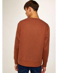 Topman - Brown Rust Sweatshirt for Men - Lyst