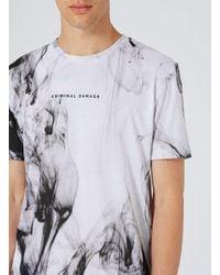 Criminal Damage White Fog T-shirt for men