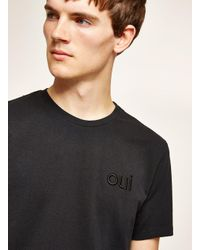 Topman Black 'oui' T-shirt for men