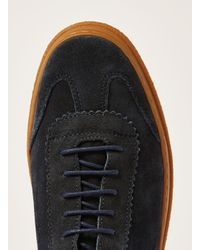Hudson Blue Navy Suede 'arbroath' Retro Trainer for men