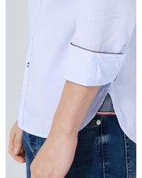 Tommy Hilfiger - Blue Dobby Shirt for Men - Lyst