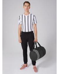 Topman | Black And Grey Gym Bag for Men | Lyst