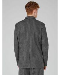 Topman Design Gray Pinstripe Blazer for men
