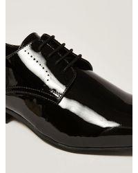 Topman Black Patent Leather Brisk Derby Shoe for men
