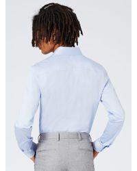 Topman - Blue Lightpremium Satin Touch Dress Shirt for Men - Lyst