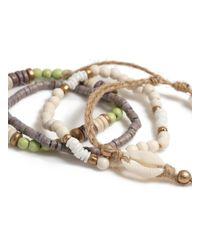 Topman Green Beaded Bracelet Pack for men