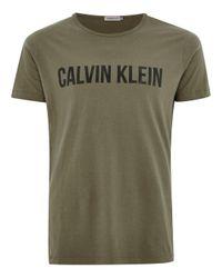 Calvin Klein - Multicolor Khaki Logo T-shirt for Men - Lyst