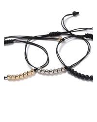 Topman Black Multi Bracelet Pack for men