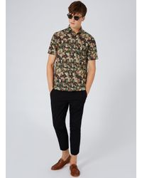 Topman | Multicolor Abstract Camouflage Short Sleeve Casual Shirt for Men | Lyst