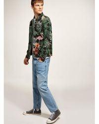 Topman Green Flamingo Classic Overshirt for men