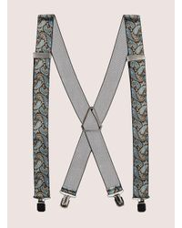 Topman - Black And Blue Paisley Suspender for Men - Lyst