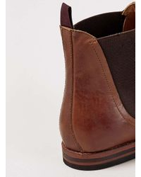H by Hudson - Brown Hudson Tan Leather Chelsea Boots for Men - Lyst