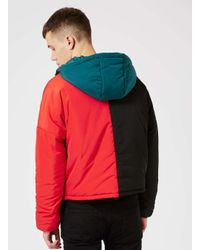 Topman | Multicolor Design Colour Block Puffer Jacket for Men | Lyst