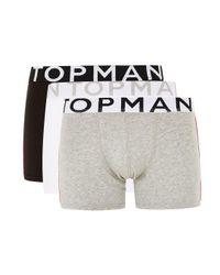 Topman Multicolor Assorted Colour Side Stripe Trunks 3 Pack for men