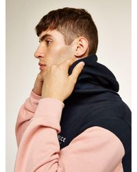 Nicce London Blue Navy And Pink Hoodie for men