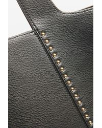 TOPSHOP - Black Simba Studded Tote Bag - Lyst