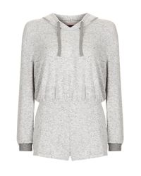 TOPSHOP   Gray Two Tone Supersoft Teddy Pyjama Set   Lyst