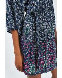 TOPSHOP - Blue Demi Lace Shift Dress - Lyst