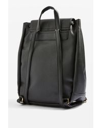 TOPSHOP Black Bailey Ring Detail Backpack
